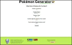 Pokemon Generator